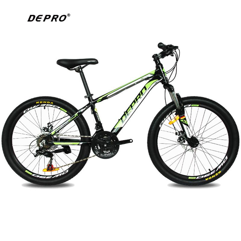 wholesale 21 Speed 24 Inch 9-13 Y Students Mountain Bikes Brake Gear MTB Professional Double Disc Brake Cycling Bicycle
