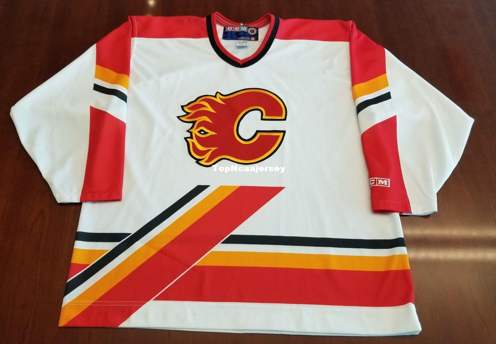 finest selection af923 4b53a calgary flames old jerseys