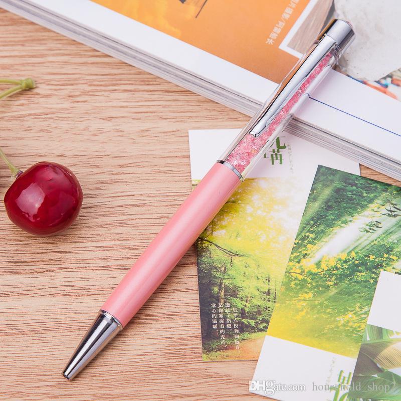 2018 قلم حبر جاف الأزياء الإبداعي لمسة قلم للكتابة القرطاسية المدرسية مكتب بالبن الحبر الأسود