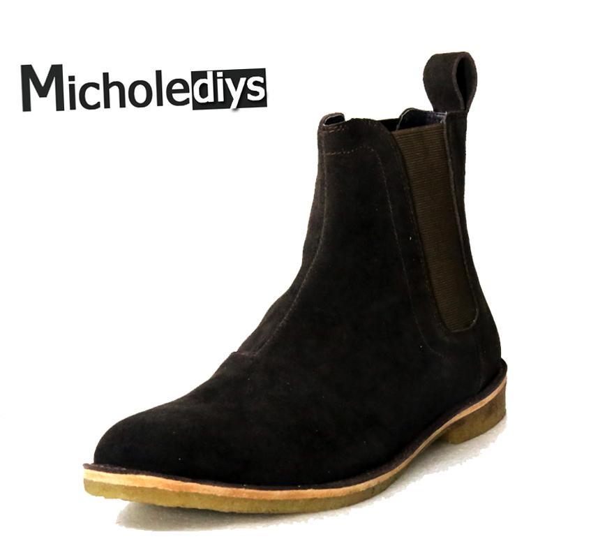 4a51340e6 Compre Micholediys Botas Clássicas Do Vintage Feitas À Mão De Todos Os  Combinando Kanye West Botas Crepe Bottom Casual Plataforma Alta Mens Sapatos  De ...