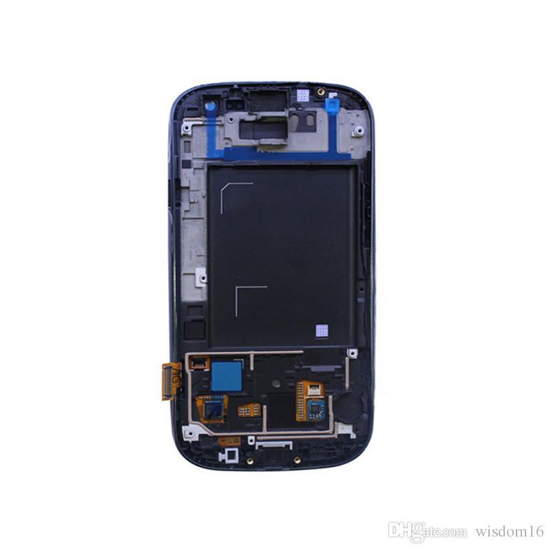 Para Samsung Galaxy S3 / i9300 LCD, 100% estrictamente probado, montaje de pantalla táctil digitalizador, con marco, herramientas de reparación gratuitas