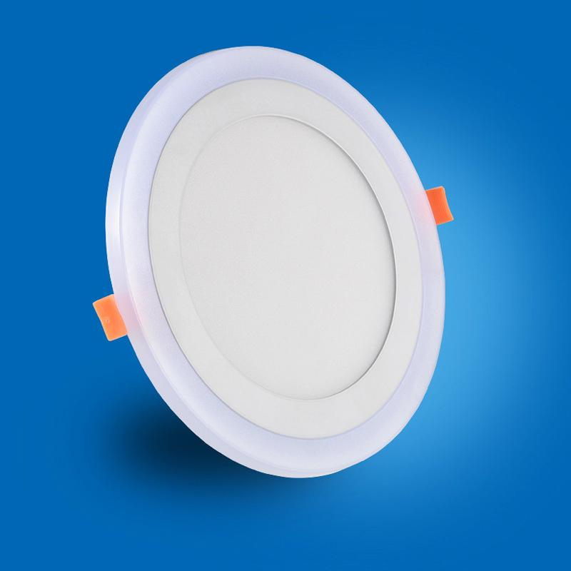 The ultra-thin LED downlight, ceiling lamp decoration, Piecewise light change, white and creen light color temperature, embedded