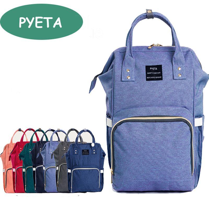 2db3614456efd 2019 PYETA New Baby Diaper Bag Fashion Mummy Maternity Nappy Bag Large  Capacity Baby Travel Backpack Designer Nursing From Callshe, $24.6 |  DHgate.Com