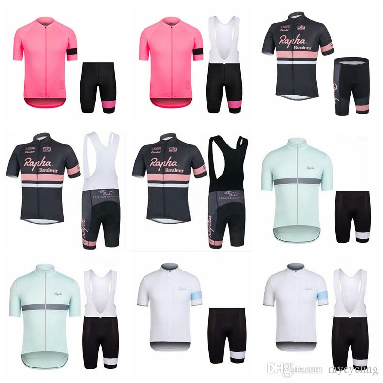 Cycling Jersey Set Summer Cycling Clothing Ropa Ciclismo Short Sleeve Rapha MTB  Bike Shirt Bicycle Bib Shorts Suit Maillot Ciclismo D1102 RAPHA Cycling ... 9e9c94b5c
