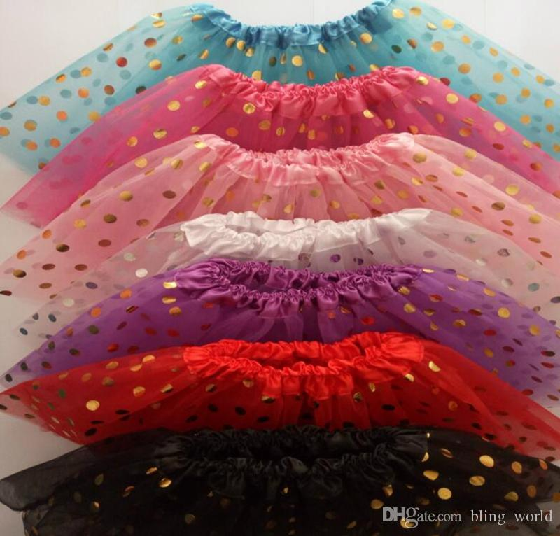 890606bc8f Compre Lentejuelas Falda Girls Gold Polka Dot Faldas Girls Dancewear Faldas  De Ballet Niños Navidad Tutus Falda Princesa Mini Vestido YL228 A  2.51 Del  ...