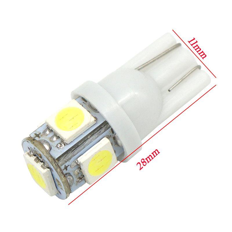 10 pz Auto T10 192 168 194 5 LED 5050 W5W Porta a cuneo Parcheggio Lampadina auto Lampada a LED Dome Festoon C5W C10W Light Light DRL