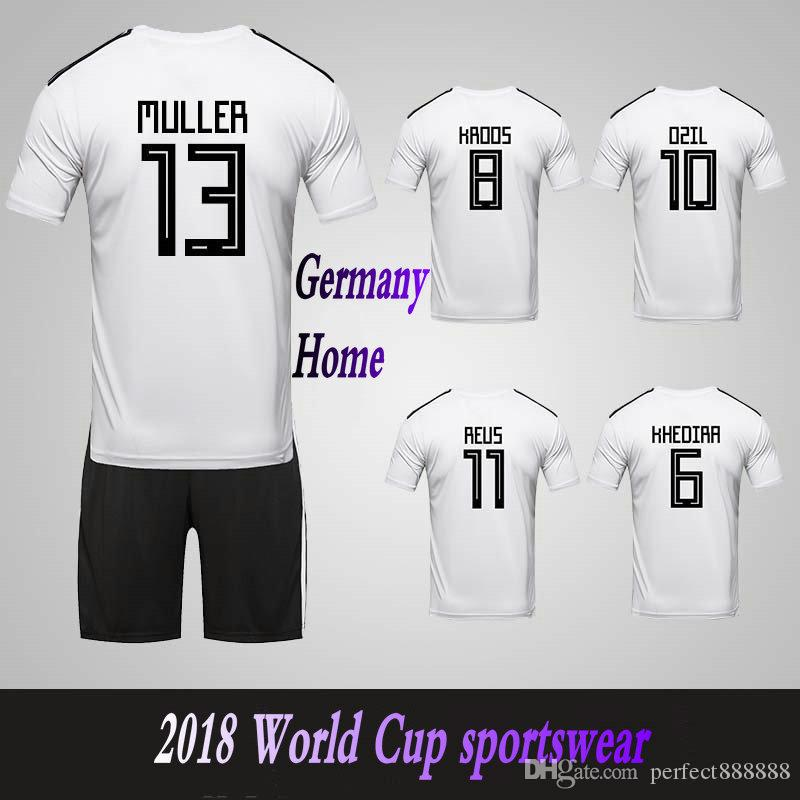 18b976fd6 2019 Men S Clothing Germany National Team Home Football Sport Suits 2018  World Cup Soccer Uniform Clothes Shorts From Perfect888888