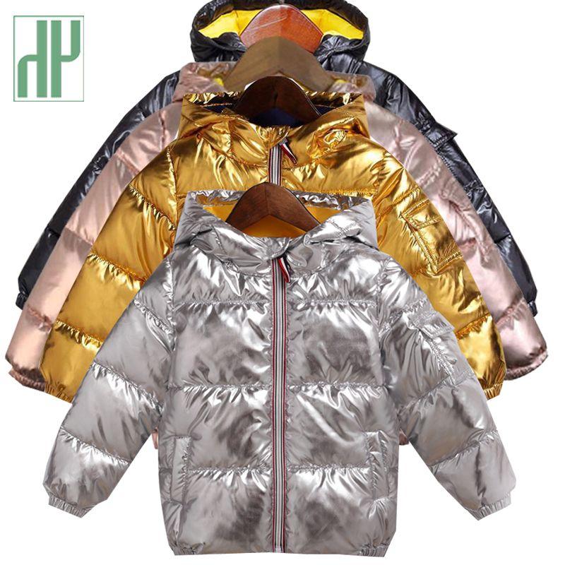54ece09e2 HH Children Winter Jacket For Kids Girl Silver Gold Boys Casual ...