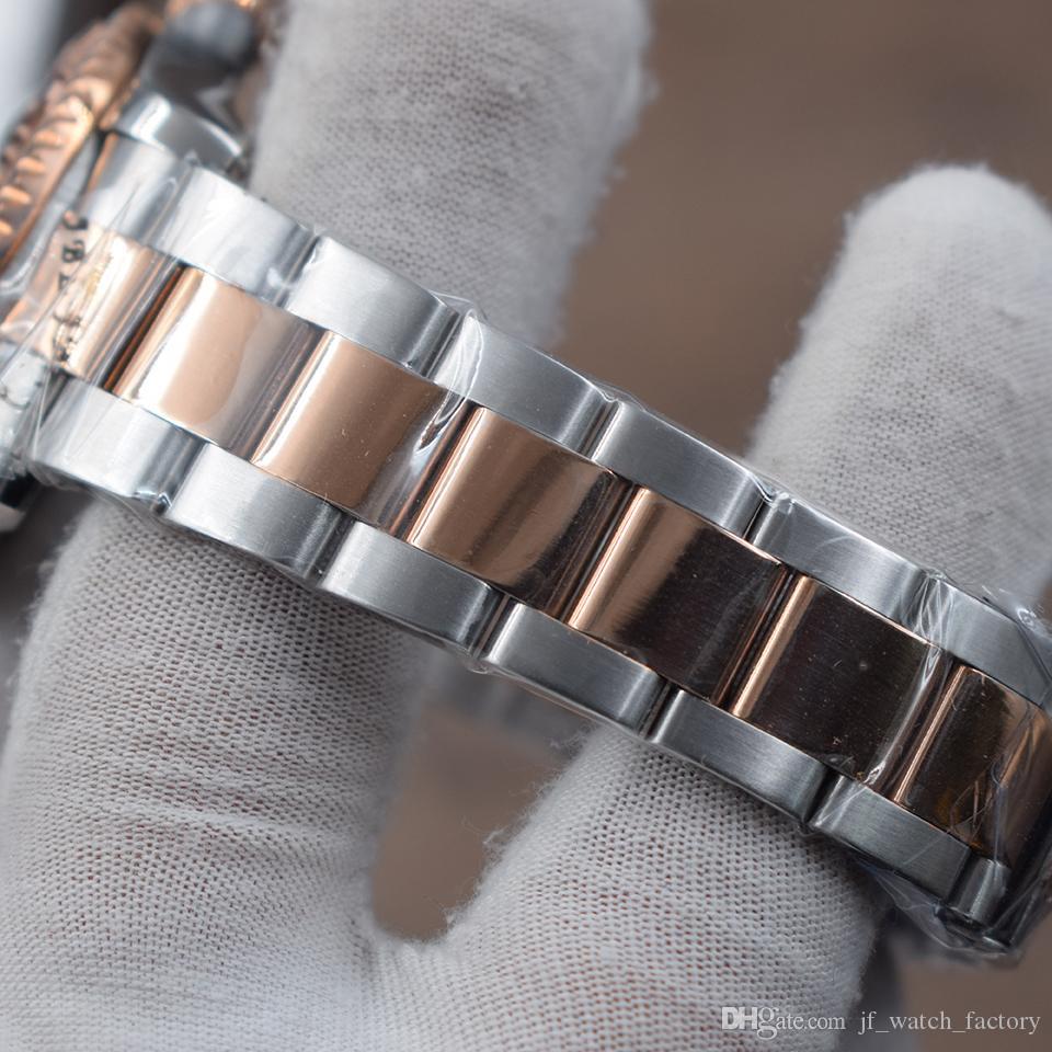 Montre de luxe Kahverengi Dial Otomatik Mekanik Erkek izle 116621 Paslanmaz çelik gül altın Dönen çerçeve 40mm Üç eller Erkek kol saati
