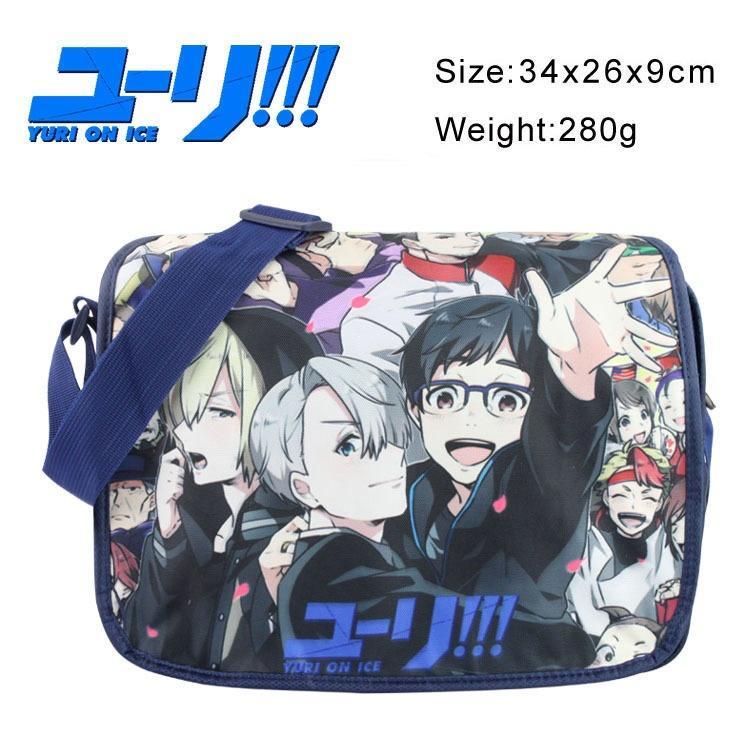 2018 Anime YURI!!! On ICE Christmas Messenger Bag Crossbody Bag ...