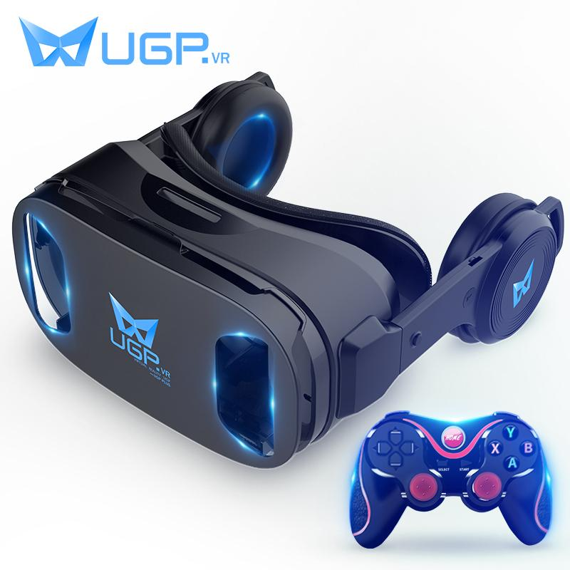 3439f94803e UGP U8 VR Glasses 3D IMAX Virtual Reality Helmet 3D Movie Games With  Headphone + Bluetooth Gamepad For 4.5 6.0 Inch Smartphone Polarized 3d  Images 3d Movie ...