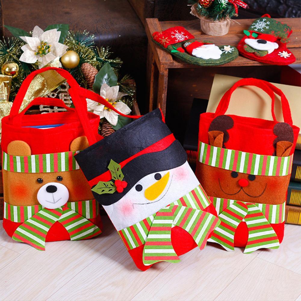 Lucky Christmas Gift Bags Snowman/Santa Claus/Elk/Bear Pattern Candy ...