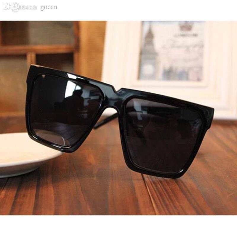 7f19fb9dd42f Wholesale Black Super Cool Big Square Frame Flat Top 2016 New UV400 Fashion  Sunglasses Women Men Sun Glasses Sunglasses Sale Kids Sunglasses From  Littlecake ...