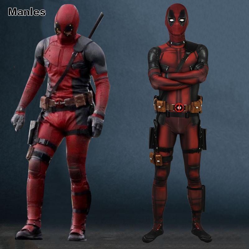4b1e2f769fa Heap Movie &Amp; TV Costumes Cosplay Deadpool 2 Costume Suit Clothing Wade  Wilson Men A Grandfather'S Daddle Jumpsuit Fantasy Adult Hallo.