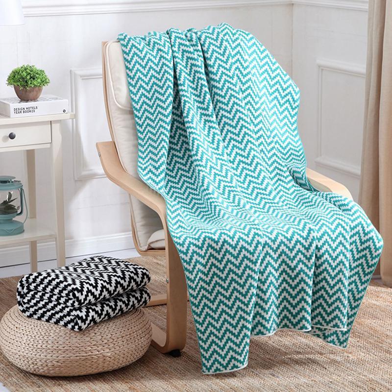 Acrylic 130x170cm Knitted Throw Travle Blanket Zigzag Green Black Sofa  Throw Blanket Air Condition Custom Blankets Throws Lion Blankets Throws  From Adeir, ...