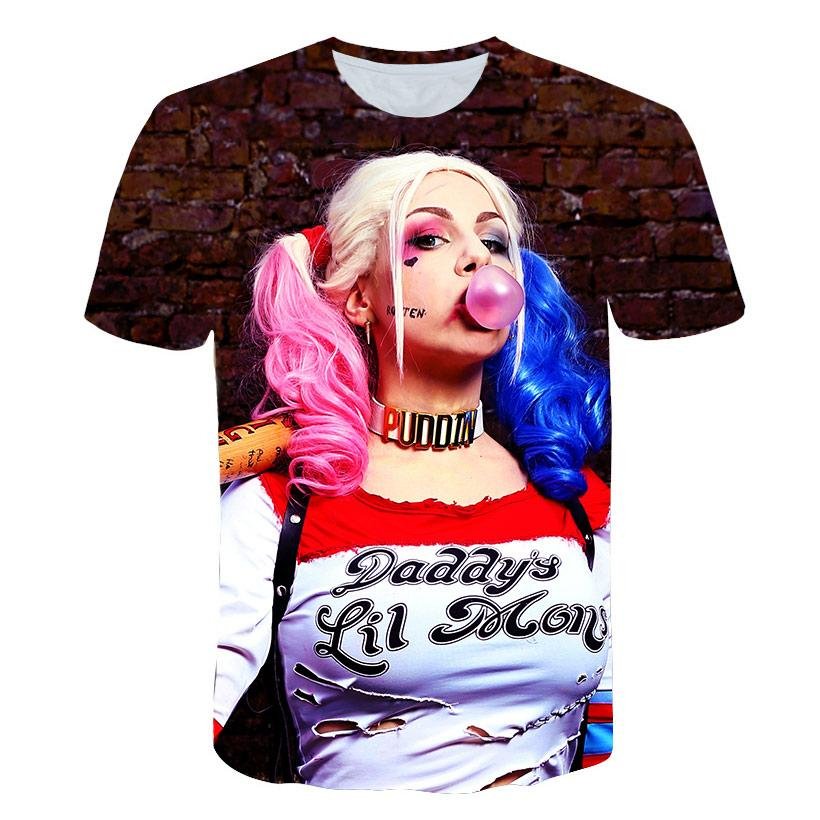 9f45707d 2018 New 3d T Shirt For Men Clown Female 3d Print Joker Tees Shirt Men T  Tops Plus Size 5XL Streetwear Shirts Designer Designer White T Shirts From  ...