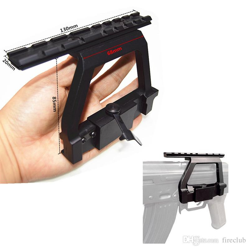 Tactical Army Force AK Side Rail Lock Scope Mount Base for AK 74U
