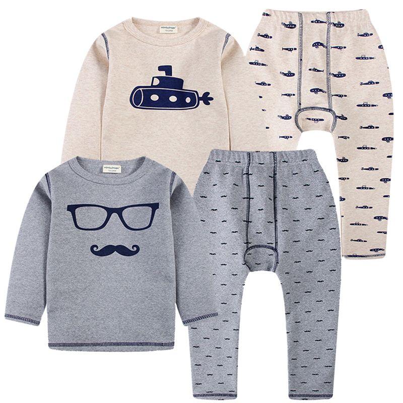 80ea6e37d 2018 High Quality Children Pajamas Set Baby Boys Thermal Underwear ...