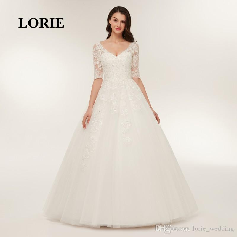 Cheap Evening Wedding Dresses for Guests Discount Long Sleeve Casual Winter Wedding  Dresses d6256699d76d
