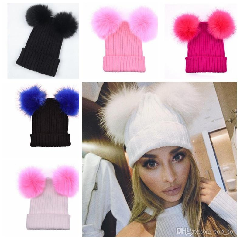Buy Cheap Caps Hats For Big Save Women Adult Knitted Hats Two