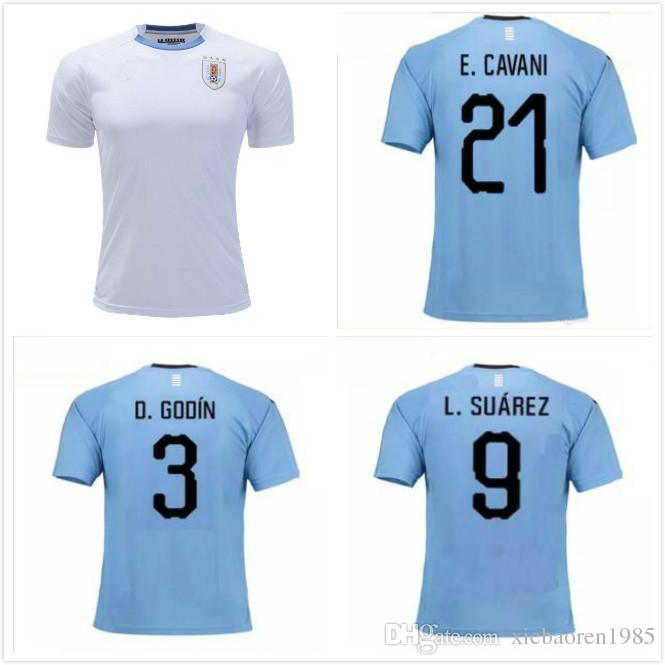 5a29206a30f TOP QUALITY 2018 World Cup Uruguay Blue Home Soccer Jersey 2019 ...