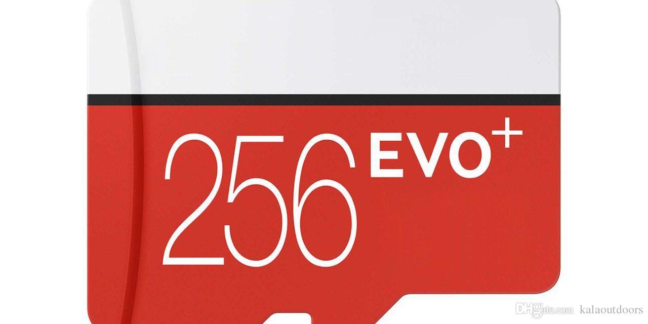 Schwarzes EVO plus + 256GB 128GB 64GB 32GB Klasse 10 freies Sd-Adapter-Kleinblasen-Paket Epacket DHL geben Verschiffen frei