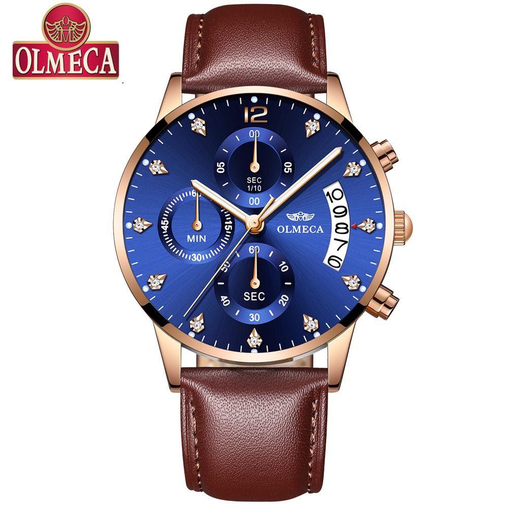 fdfa42c2dc0 Compre OLMECA Relógios Homens Marca De Luxo Relógio De Quartzo Dos Homens  De Moda Casual Esporte Relógio Homens Relógio De Pulso Relogio Masculino  2019 ...
