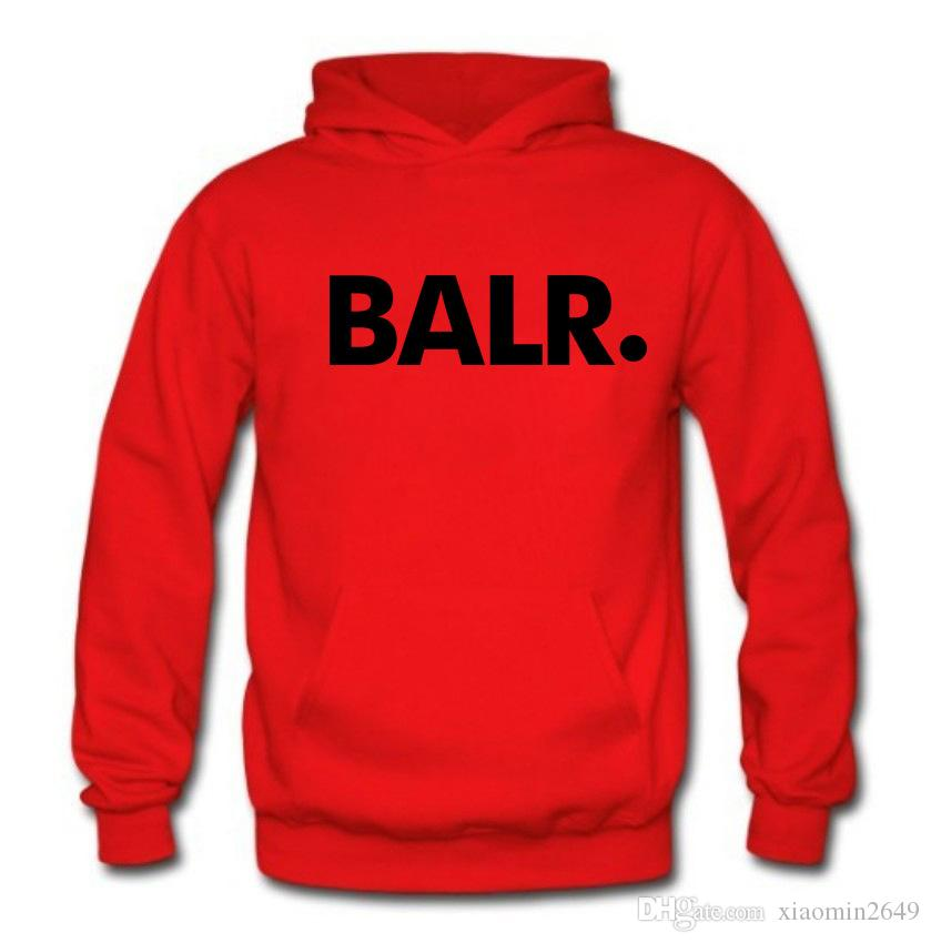 2018 Hot BALR Letters Printed Hoodies Mens Spring Autumn Fleece Pullovers Hooded Sweatshirts Sports Tracksuits Tops Long Sleeved