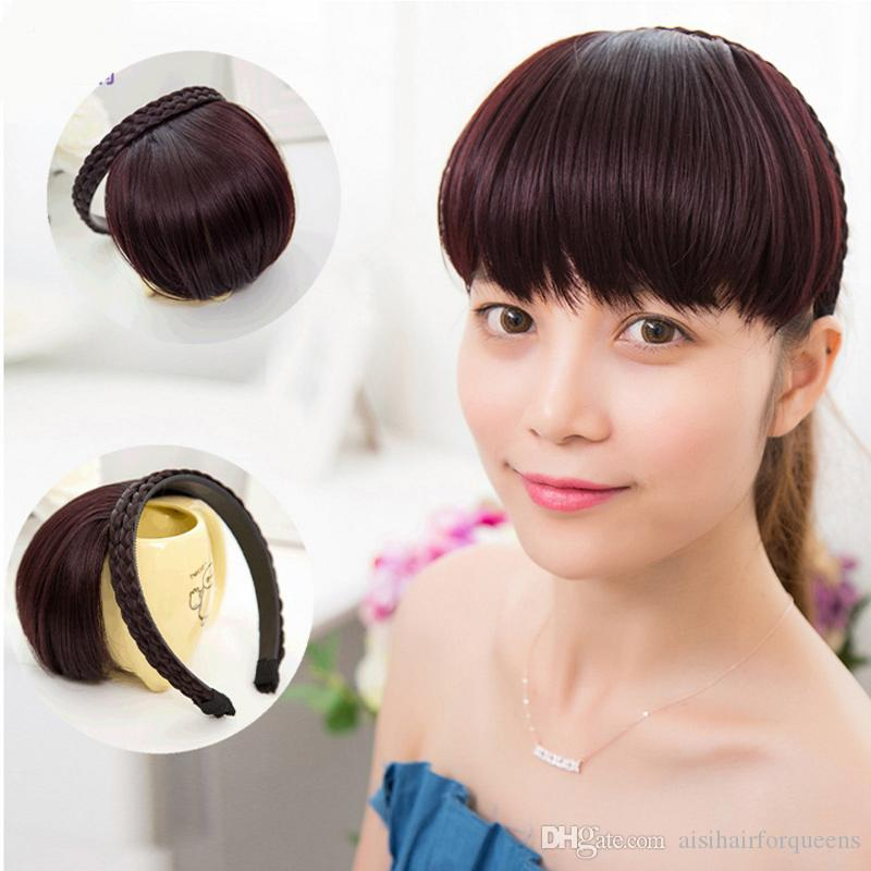 6 Inch Synthetic Neat Bangs Fake Hair Extension Hairpieces False