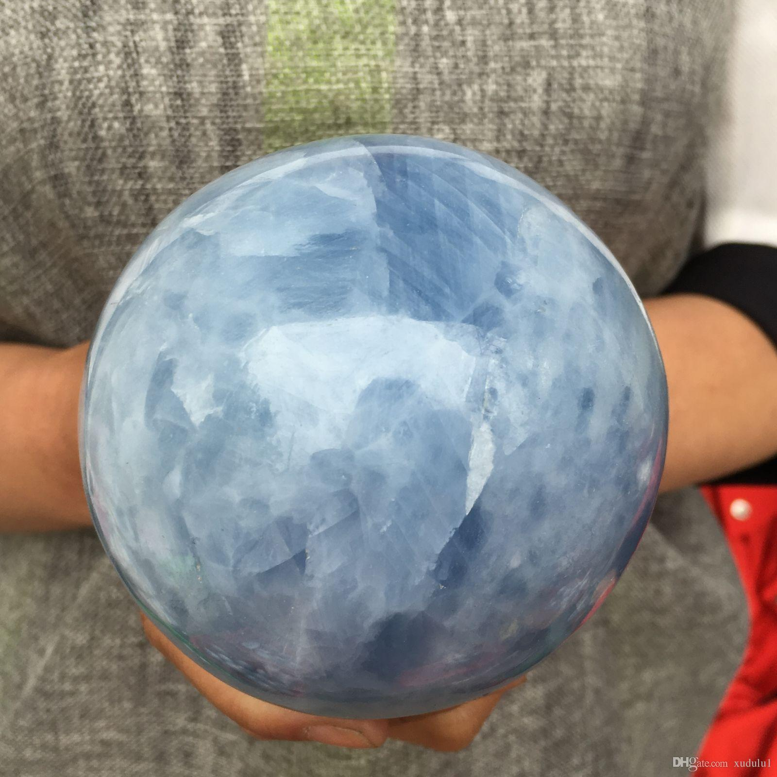 Natural magic blue calcite Sphere quartz crystal ball Healing