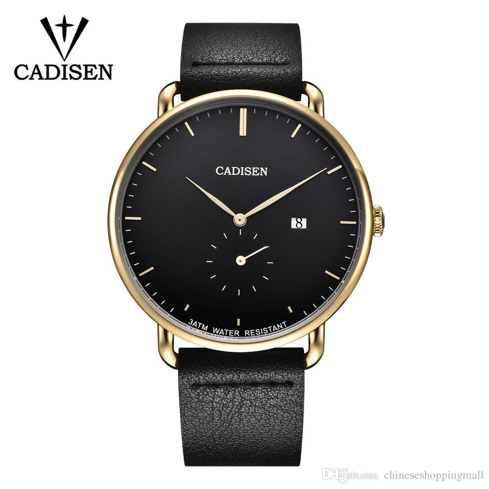 57ea71066f3 Compre Novo 2018 CADISEN Relógios Homens De Luxo Top Marca De Quartzo  Relógio De Negócios De Moda Esporte Reloj Hombre Relógio Masculino Hora  Relogio ...