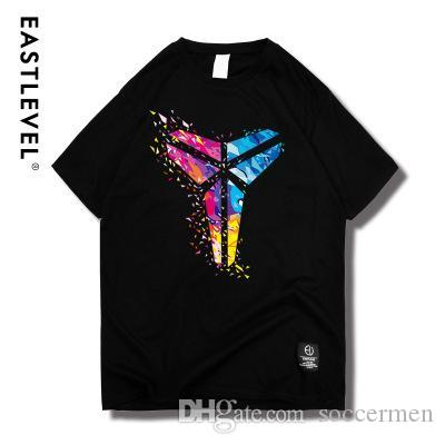 wholesale dealer d09b1 f4b99 Colorful Kobe Bryant Black Mamba commemorative models graphic t shirts  Casual Pullover Superior Quality Short Sleeve Men s Top Design