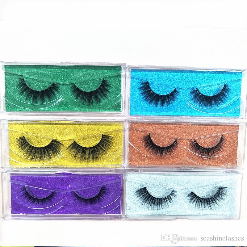 2018 Seashine Natural Mink Strips Thick Cross Natural False Eyelash 3D Eyelash Extensions factory supply for sale