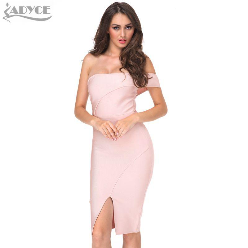 6b74cccb4330 20187 ADYCE Wholesale 2018 Women Summer Bandage Dress Nude Off ...