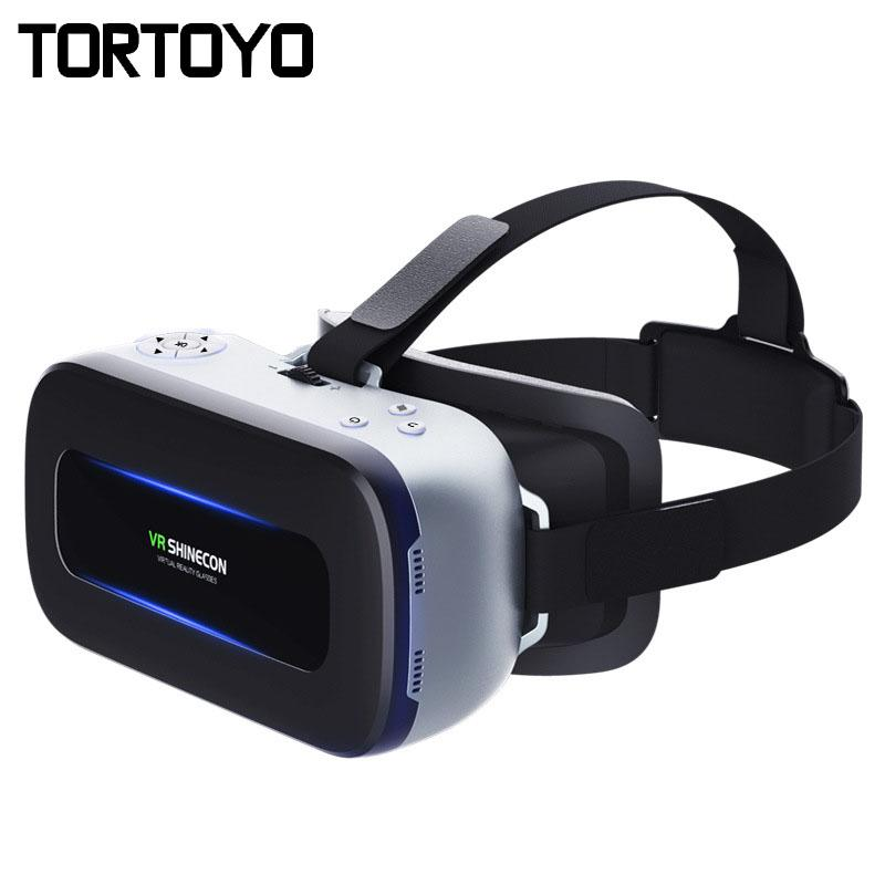 6ddafabf8fc All In One Android 4.4 VR SHINECON AIO01 Bluetooth 4.0 3D Virtual Reality  Glasses Smart Glasses VR BOX 2G+16G WIFI 1920 1080 HD Anaglyph Glasses  Passive 3d ...