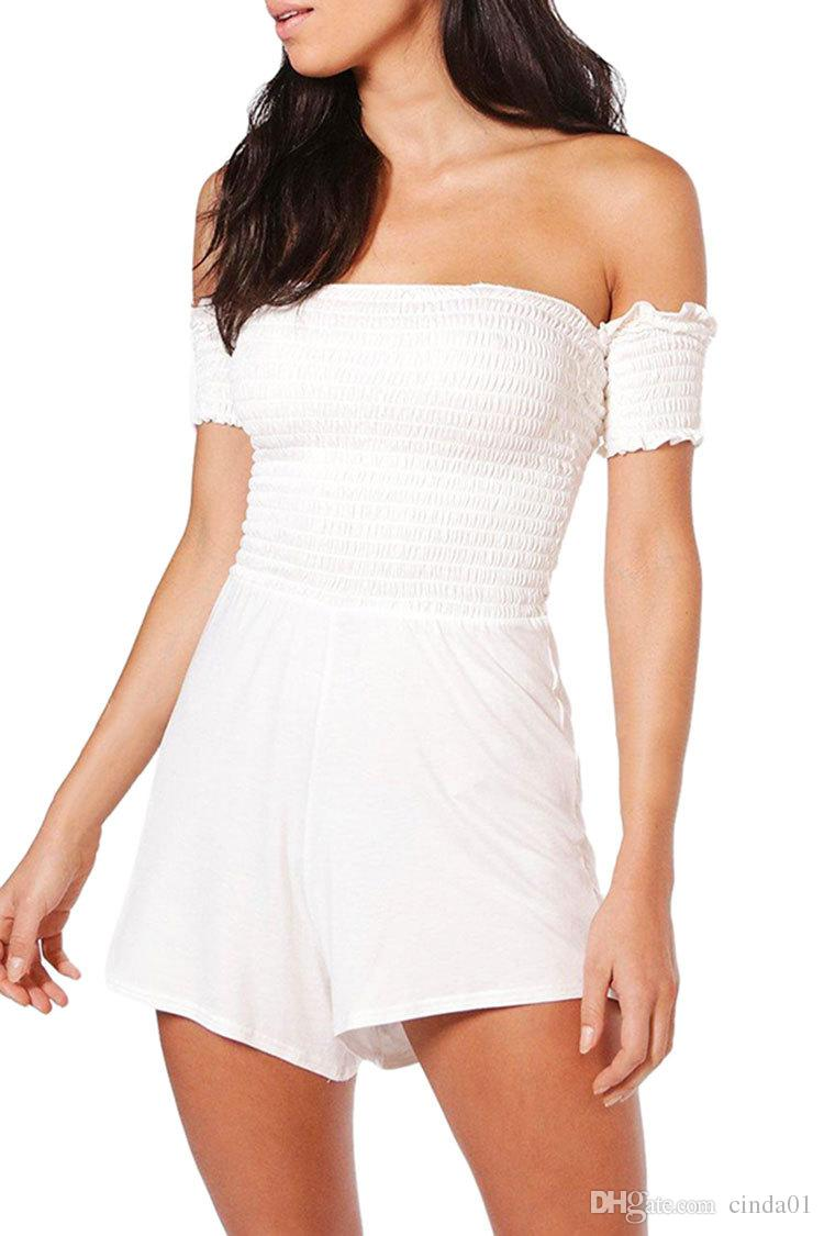 Woman Jumpsuits Spring Women Body suits Fashion Pleated Sleeveless Sexy Skinny Slim Fitness Bodysuit Ladies Rompers