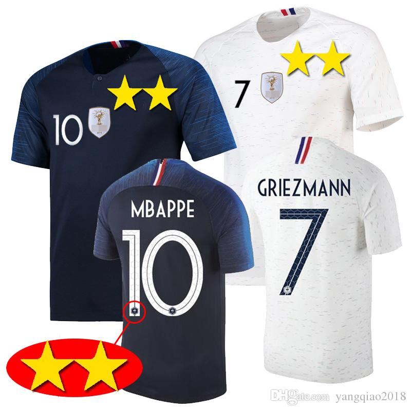 159cf7864 2018 World Cup MBAPPE Soccer Jersey Men 2 Stars GRIEZMANN Football ...