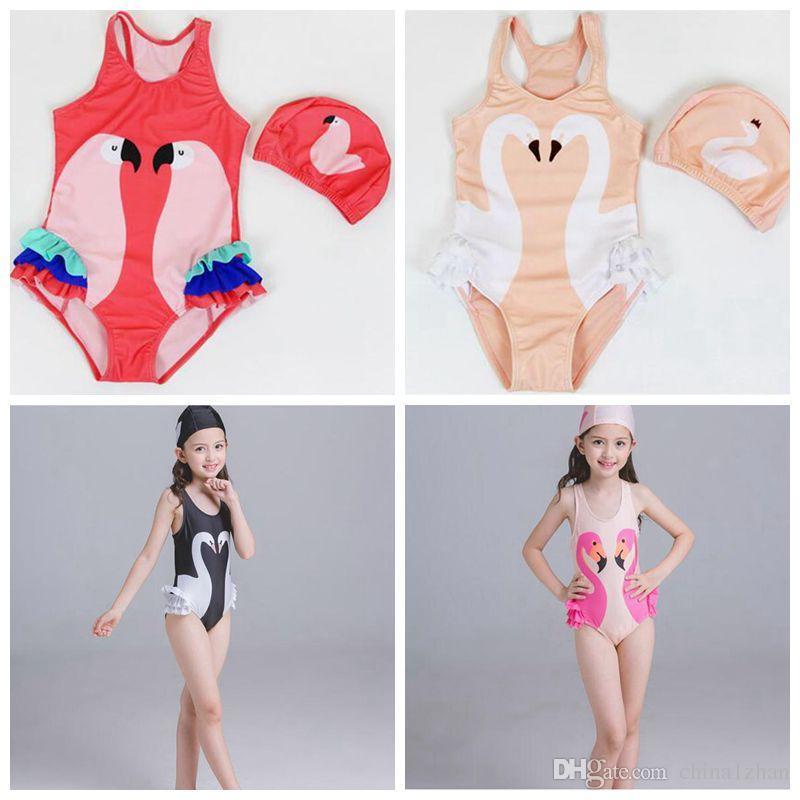 Kinder Bademode Kinder Einteiler Schwan Badeanzüge 2018 Neue Nette Kinder Baby Mädchen Bikini Anzug Badeanzug Bademode Einteiliges Schwimmen Kleidung Monokini