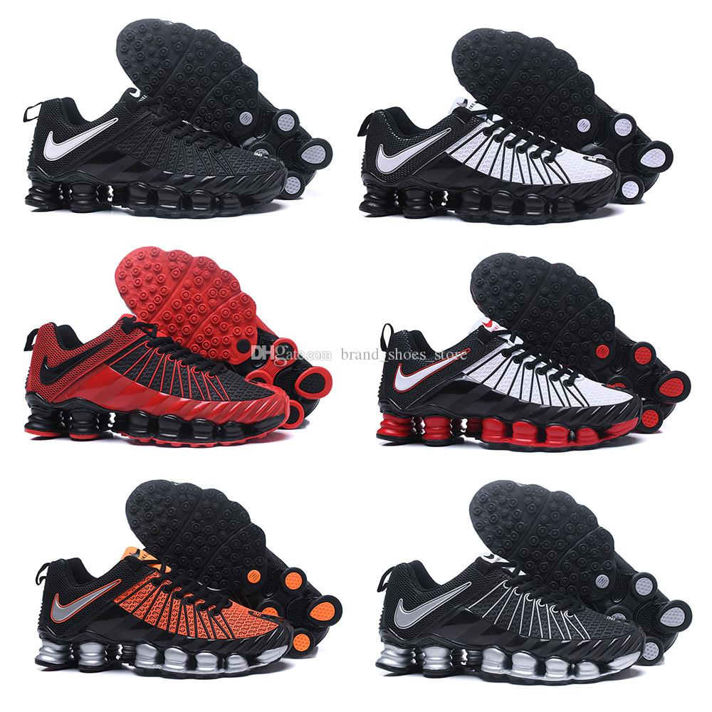 20391437f 2018 New Shox TLX 1013 KPU Air Running Shoes Men Chaussures Zapatillas  Deportiva Hombre OZ Trainers Red White Orange Black Athletic Sneakers
