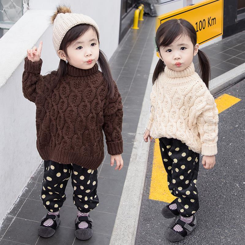 58f6fab78 Girl Pullover New Pattern Children Korean Autumn And Winter High ...
