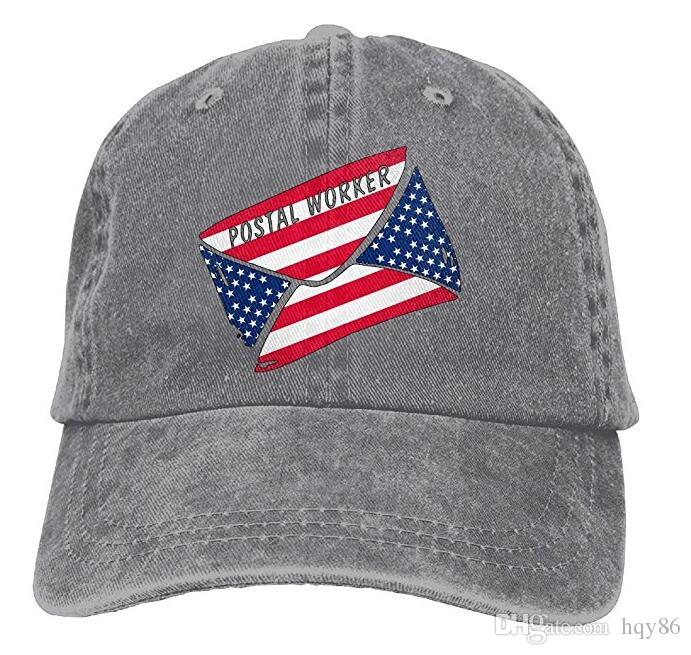 Postal Worker US Flag American Flag Classic Unisex Baseball Cap Adjustable  Washed Dyed Cotton Ball Hat Multi Color Optional Mens Caps La Cap From  Hqy86 f950a1ad25f