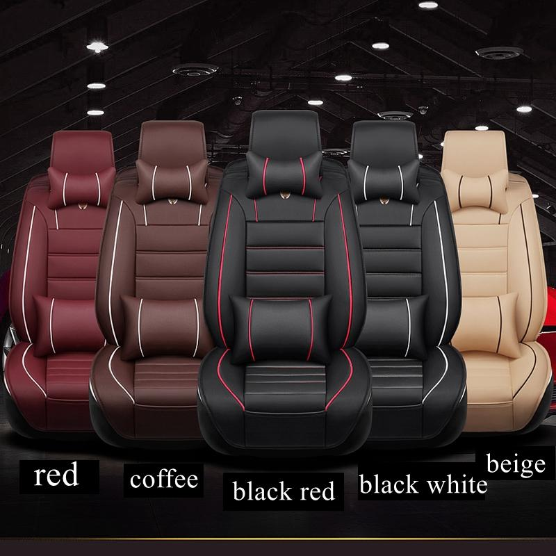 5 Seat Leather Automobiles Seat Covers Fit Corolla Crown Lc Prado Fj