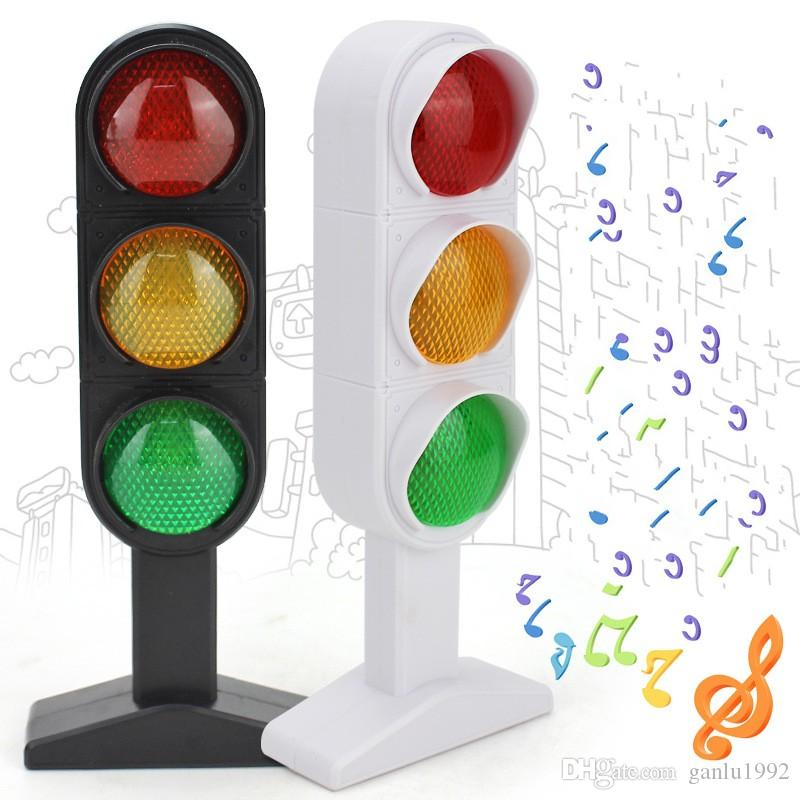 Traffic Lights Red Green Real Person Phonation Simulation Toys Learning Educational Model Scene Child Kid Gift 12lh V