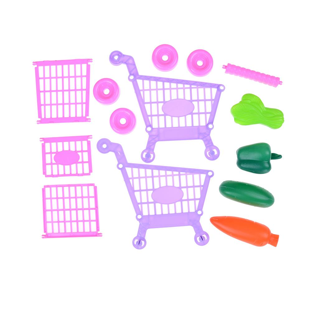 ini Shopping Cart Safe Trolley Toy Classic Children Puzzle Supermarket Car Pretend Play Furniture Toys Children Play House Toys