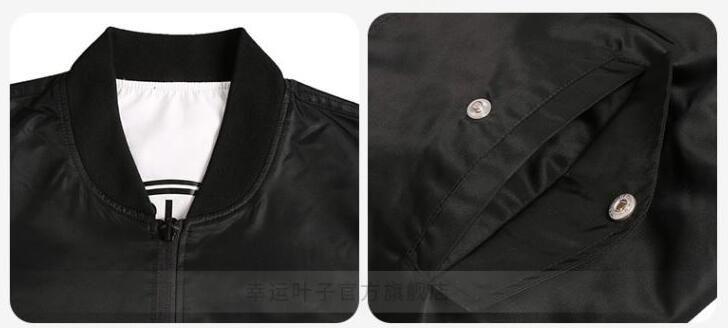 Hochwertige Kanye West Damen Sportswear Mantel MA1 Bomberjacke Pilot Jacken reversible Veste Sportjacke Schwarz / Weiß