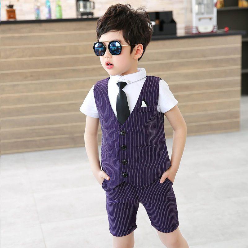 11d532a3c366f 2-9 age new 2018 summer striped boys clothing set 3pcs kids vest shirt pant  clothes sets boys clothing sets summer
