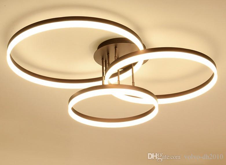 Chambre Plafonnier Llfa Home Plafond Luminaire Salon Rond Cercle Led Simple Monté Moderne Decor Lampe lK1J3FTc