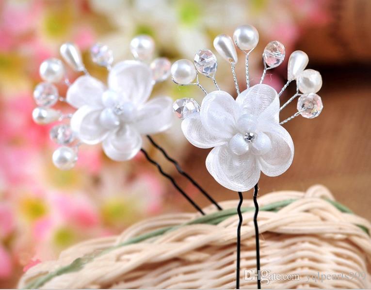 2018 su matkap U tipi kristal inci süsler düğün şapkalar