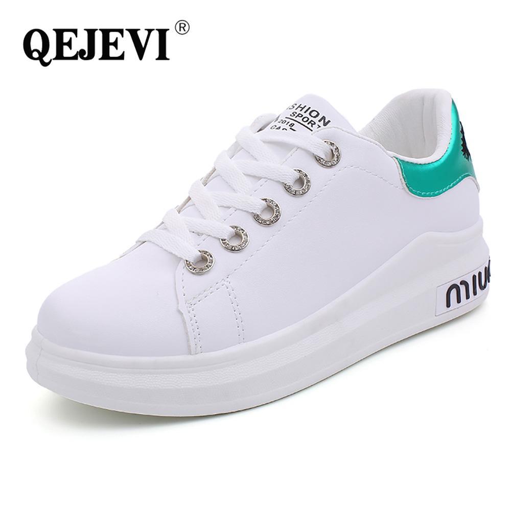 42d47123c22 Compre Zapatos Blancos Para Mujeres Deportes Primavera Otoño Zapatos Para  Caminar Zapatillas De Deporte A Precio Barato Correr Correr Zapatillas  Deportivas ...