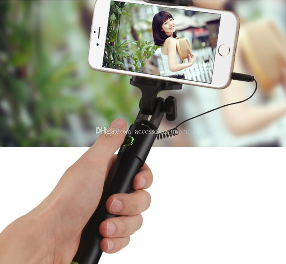 Mini autoscatto bar regalo telefono cellulare tre generazione autoscatto bar auto pieghevole self-selfiestick asta selfie stick e DHL gratuito